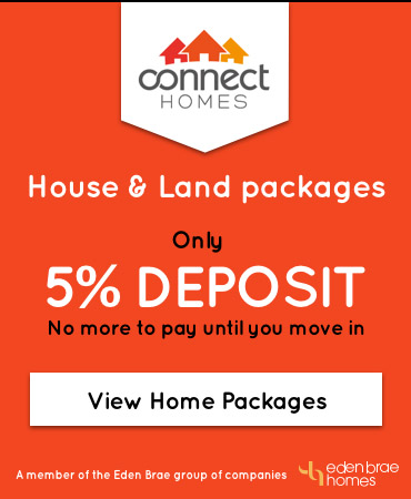 Connect homes banner 5% deposit