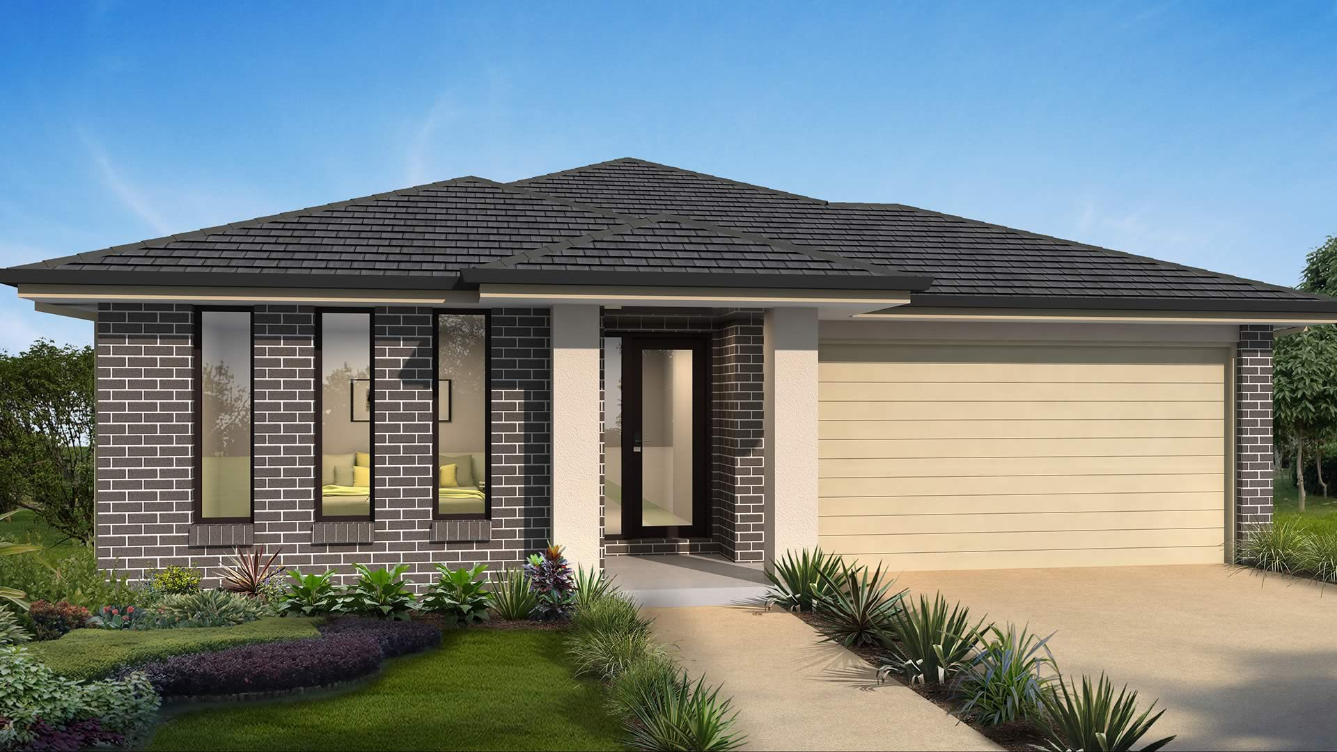 Accent Single Storey Riviera Brick Pier